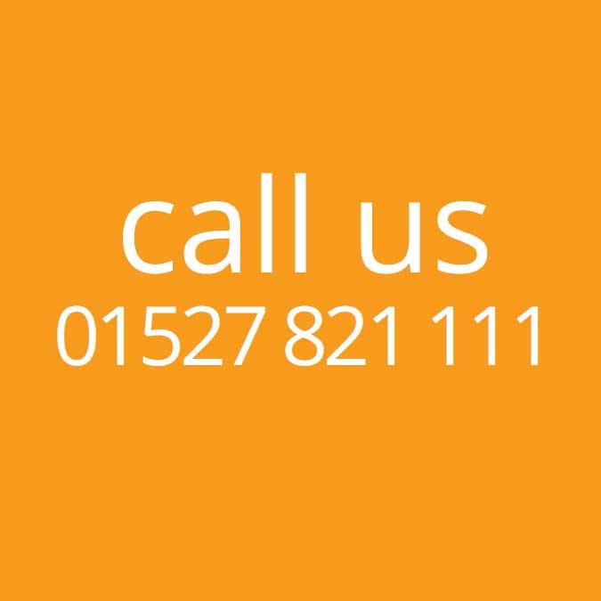 call us - 01527 821 111